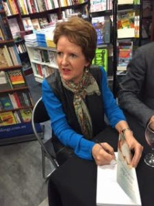 margie signing her book